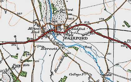 Old map of Fairford in 1919
