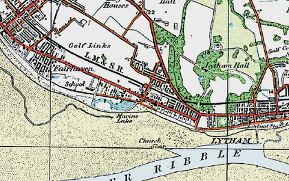 Old map of Fairhaven in 1924