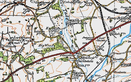 Old map of Fairmile in 1919