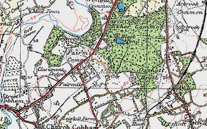 Old map of Fairmile in 1920