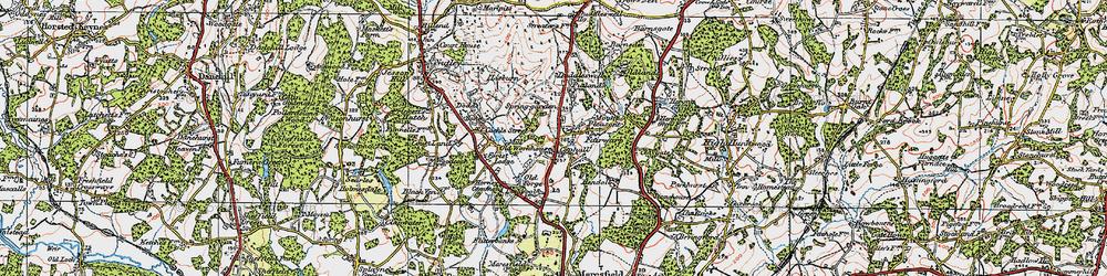 Old map of Fairwarp in 1920