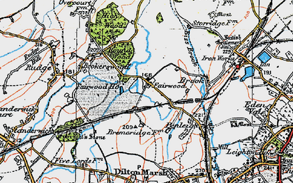 Old map of Fairwood in 1919