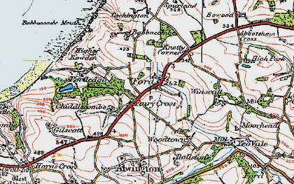 Old map of Babbacombe Mouth in 1919