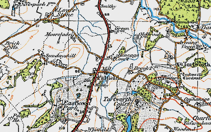 Old map of Falfield in 1919