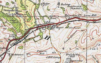 Old map of Balmer Down in 1920