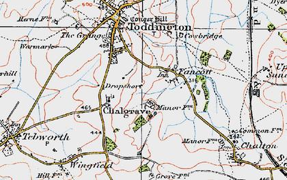 Old map of Fancott in 1919