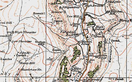 Old map of Wetherhouse Moor in 1925