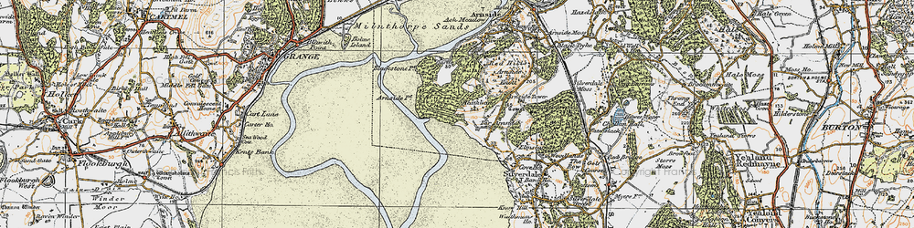 Old map of White Creek in 1925