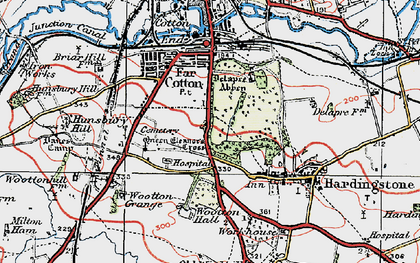 Old map of Wootton Hall in 1919