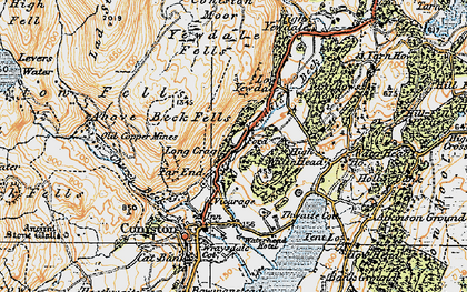 Old map of Levers Water in 1925