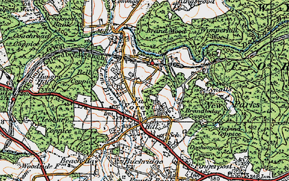 Old map of Lem Brook in 1921
