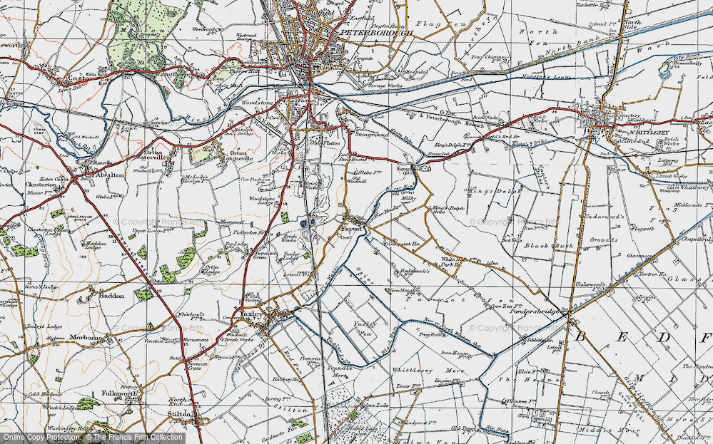 Old Map of Farcet, 1922 in 1922