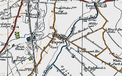 Old map of Farcet in 1922