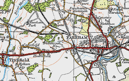 Old map of Fareham in 1919