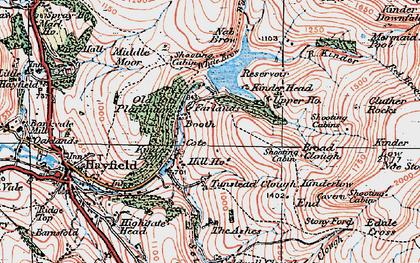 Old map of William Clough in 1923