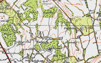 Old map of Farleigh in 1920