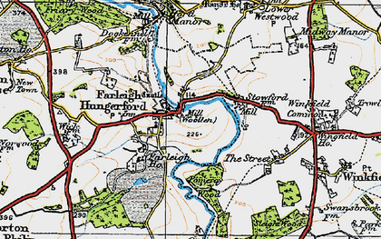 Old map of Farleigh Hungerford in 1919