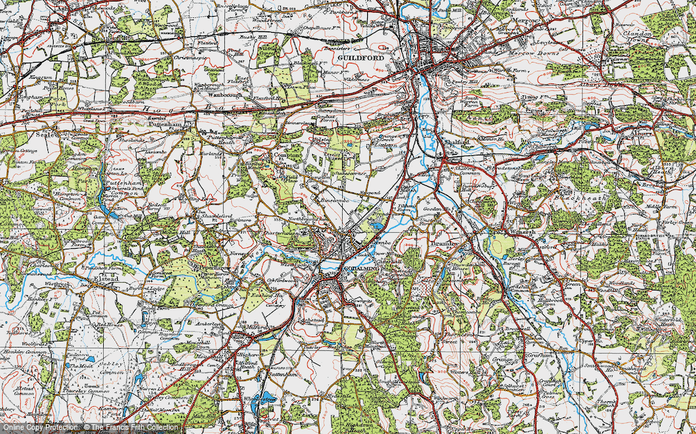 Old Map of Farncombe, 1920 in 1920