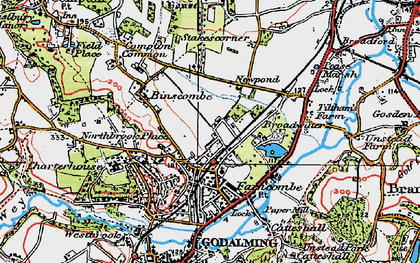 Old map of Farncombe in 1920