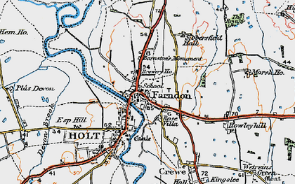 Old map of Farndon in 1924