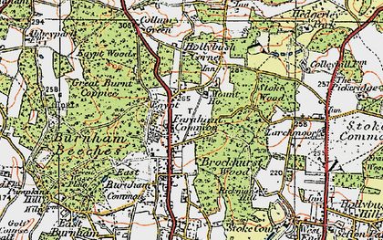 Old map of Farnham Common in 1920