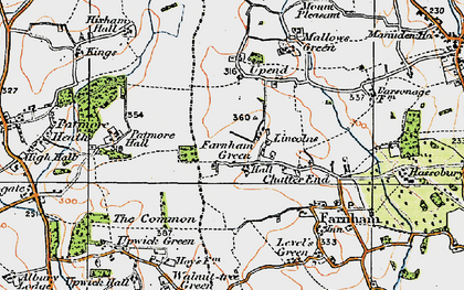 Old map of Lincolns in 1919