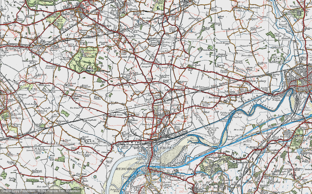 Old Map of Farnworth, 1923 in 1923
