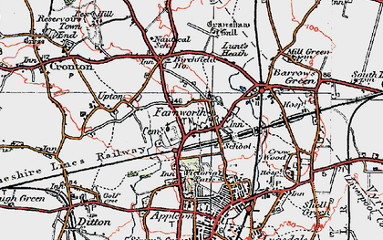 Old map of Farnworth in 1923