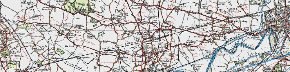 Old map of Widnes Sta in 1923