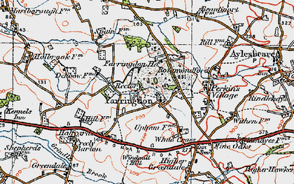 Old map of Farringdon in 1919