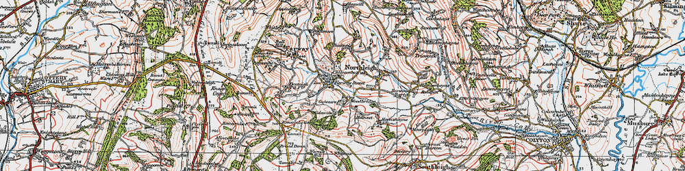 Old map of Widcombe Wood in 1919