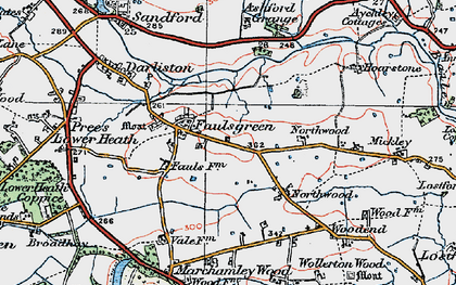 Old map of Ashford Grange in 1921
