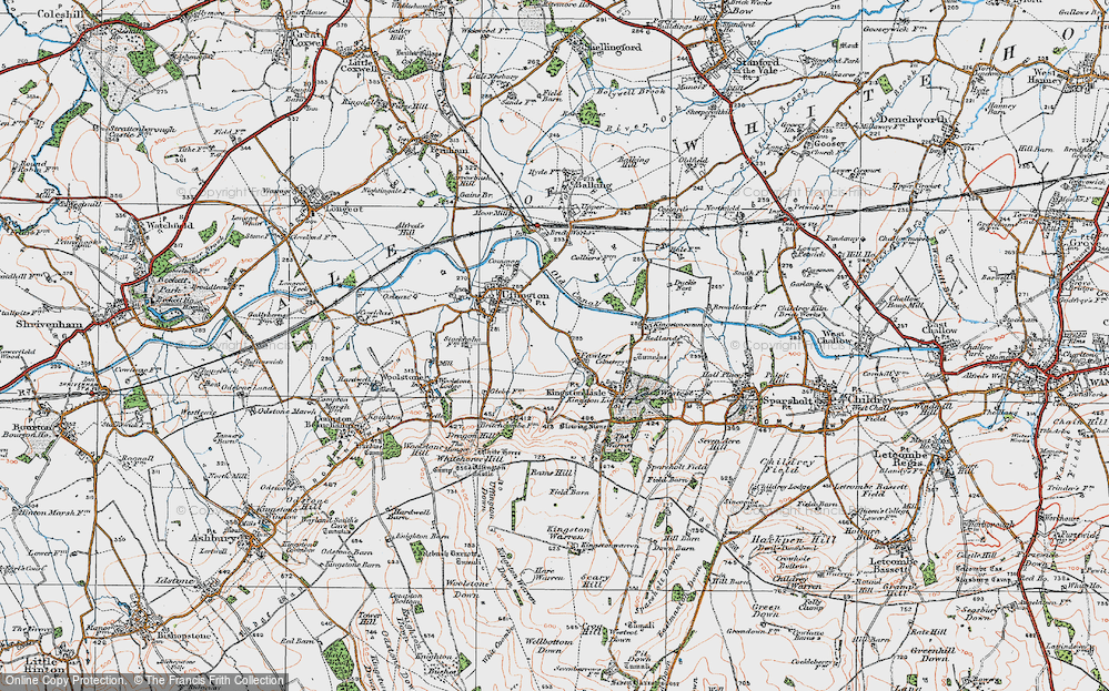 Old Map of Fawler, 1919 in 1919