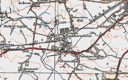 Old map of Featherstone in 1925