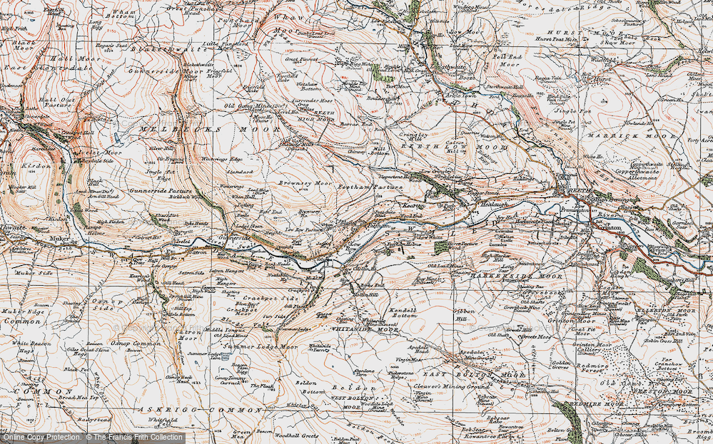 Old Map of Feetham, 1925 in 1925