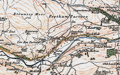 Old map of Feetham in 1925