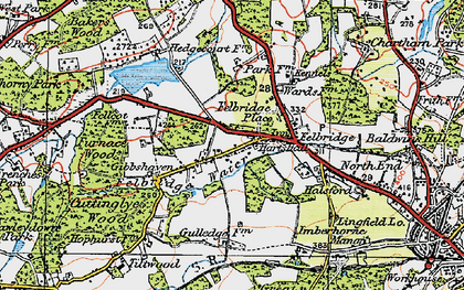Old map of Felbridge in 1920