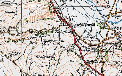Old map of Felinfach in 1923