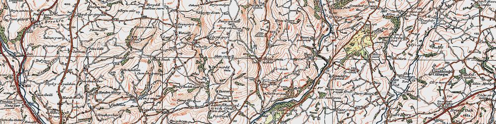 Old map of Allt-y-golau-Uchaf in 1923