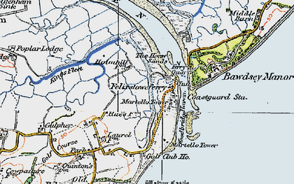 Old map of Woodbridge Haven in 1921