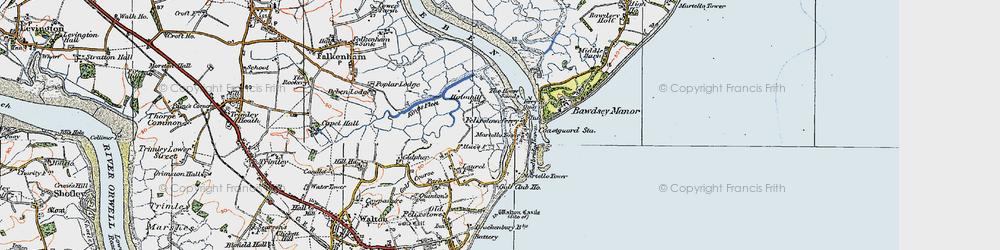 Old map of Woodbridge Haven in 1921