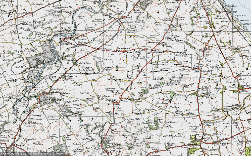 Old Map of Historic Map covering Lickar Moor in 1926