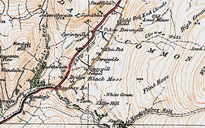 Old map of Backside Beck in 1925
