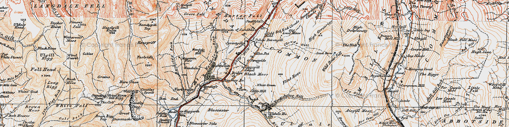 Old map of White Green in 1925