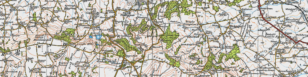 Old map of Whitford in 1919