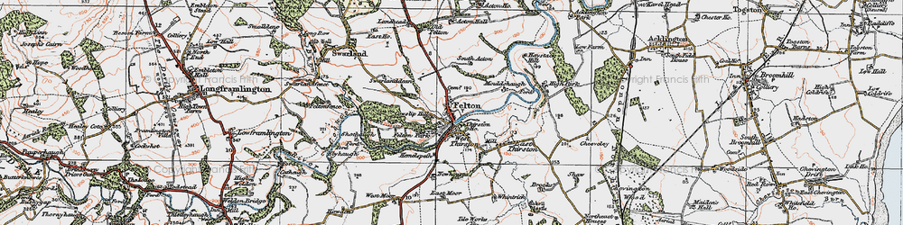 Old map of Acton Dene in 1925