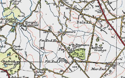 Old map of Balsall Lodge in 1921