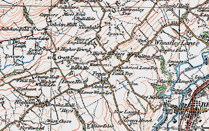 Old map of Ashlar Ho in 1924