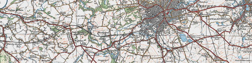 Old map of Witton Country Park in 1924