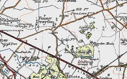 Old map of Ashpole Spinney in 1921